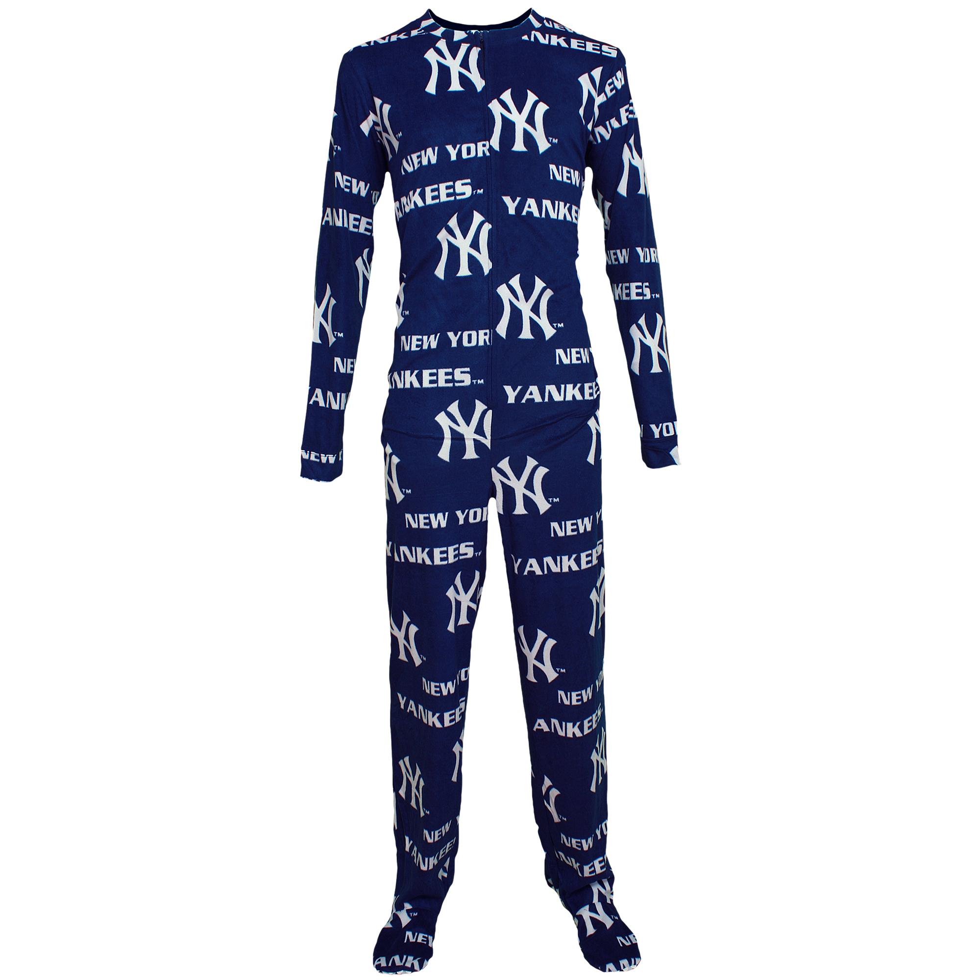 New York Yankees Concepts Sport Union Suit Pajamas - Navy