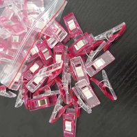 Sewing Craft DIY Plastic Clips Holder Patchwork Fabric Ax Clip Quilting Tool Rose Red