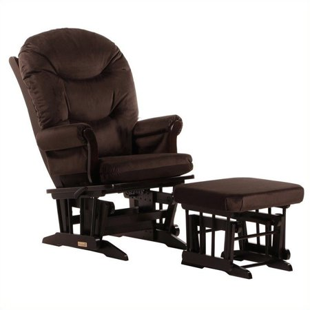 ULTRAMOTION by Dutailier Sleigh GliderReclinerMultiposition and Nursing Ottoman Set in Espresso and Chocolate