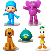 """3"""" Tall Pocoyo 5PCS Set Action Figures Kids Toys Birthday Cake Topper Gift Playset High Quality"""