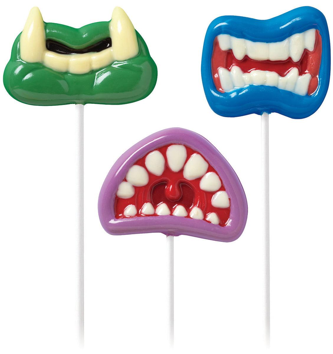 Lollipop Mold-Monster Mouth 3 Cavities (3 Designs)