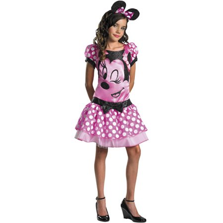 Minnie Mouse Pink Child Halloween - Kids Mouse Costume