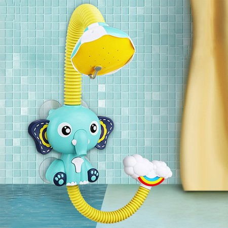 FANNI Baby Bath Toys Electric Elephent Animal Sucker Electric shower Rain Head - image 2 of 10