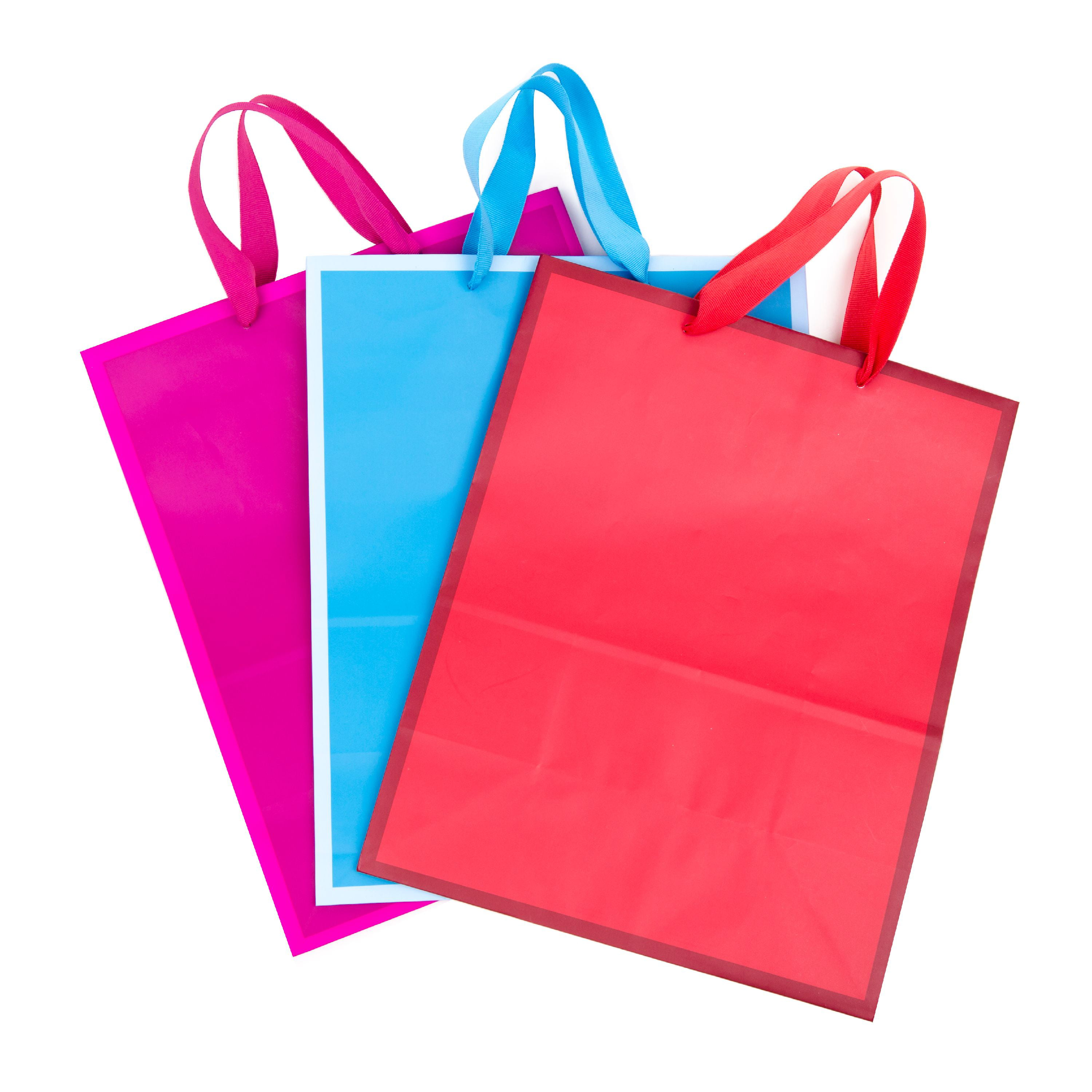12-PC Birthday Jumbo Gift Bags with Glitter or Foil Accents
