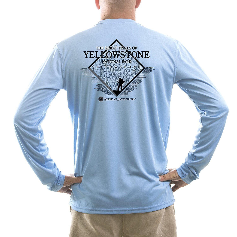 Yellowstone National Park Women/'s UPF 50 Long Sleeve T-shirt