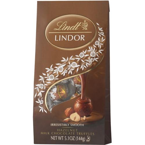 Lindt Lindor Hazelnut Milk Chocolate Truffles, 5.1 OZ