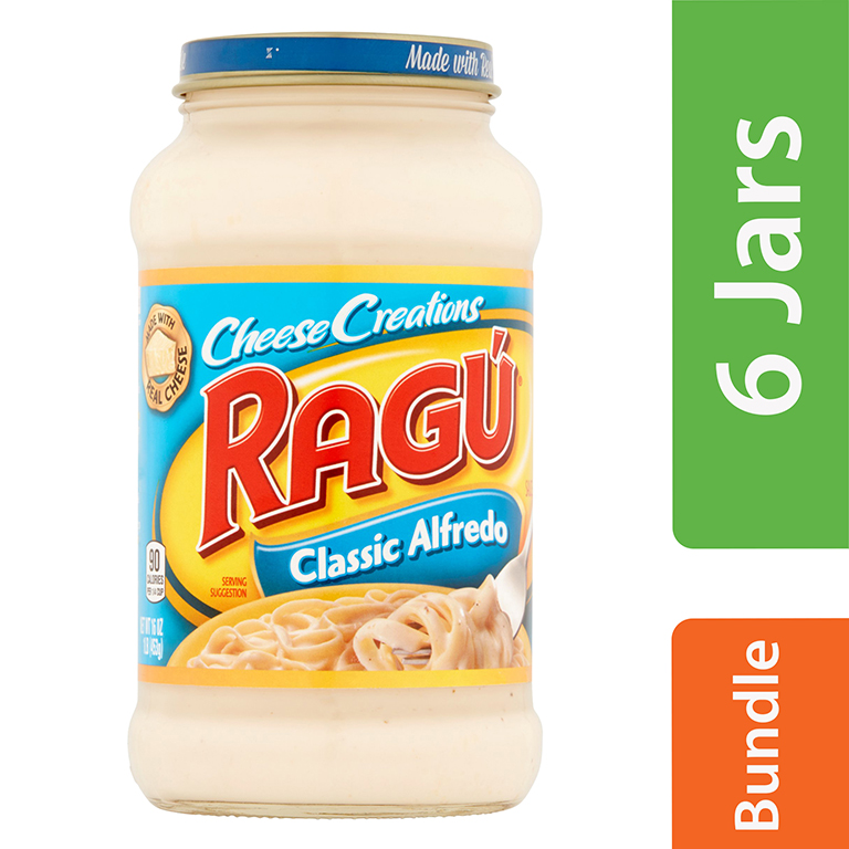 (6 Pack) Ragú Cheese Creations Classic Alfredo Sauce 16 oz.