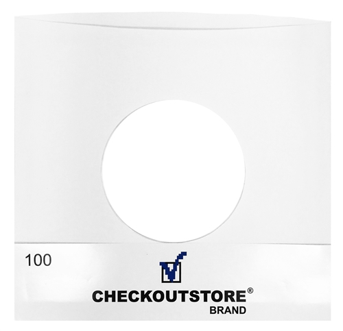 500 CheckOutStore Paper Record Inner Sleeves With Hole fo...