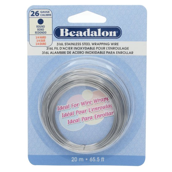 Stainless Steel Wrapping Wire - Round-26 Gauge-20 Meters - Walmart.com