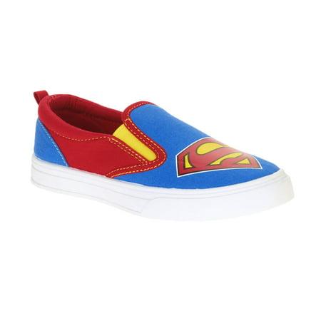 Image of Superman Boys' Canvas Slip On Casual Shoe