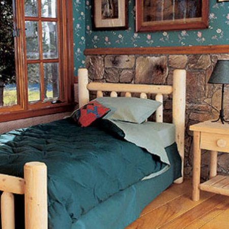 Clear Twin Size Headboard - Rustic Natural Cedar Furniture Old Country Log Bed - Headboard Only