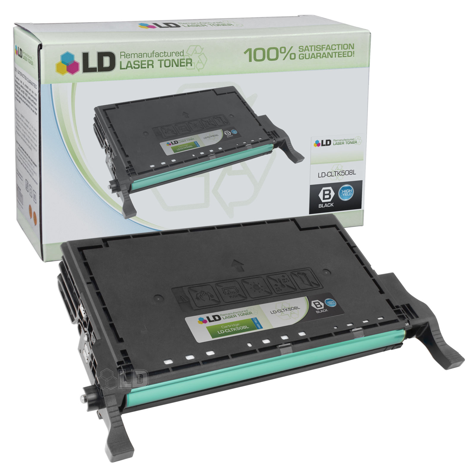 LD Replacement CLT-K508L High Yield Black Laser Toner Cartridge for use in the CLP-620ND, CLP-670N, CLP-670ND,