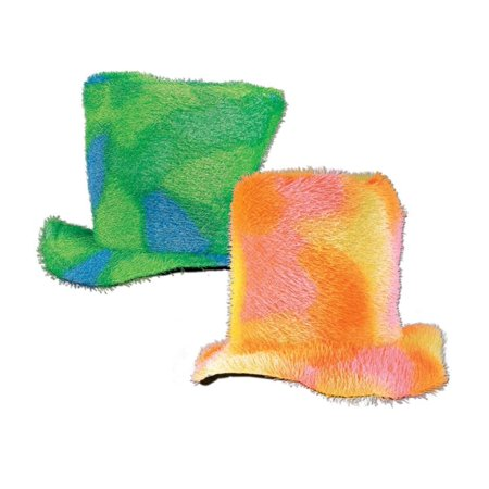 Pack of 6 Soft Multi-Color Sixties Mod Top Halloween Costume Hats