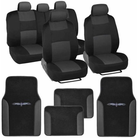 BDK Original Car Seat Covers and Floor Mats, Split Bench, Easy Installation, 6 (Blue Giraffe Car Seat Cover)