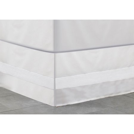 Mainstays Pintuck Bed Skirt Collection Walmart Com