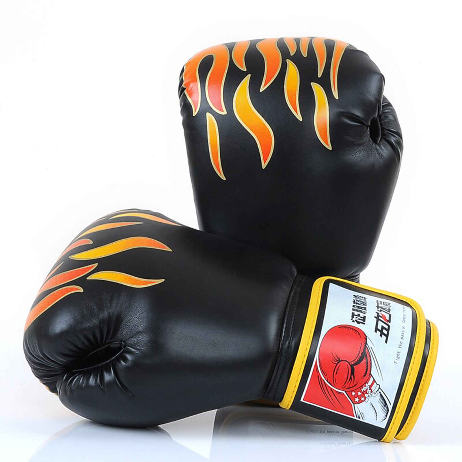 Cheerwing 14oz Boxing Gloves MMA UFC Sparring Fight Punch Mitts Leather Training Gloves by Wolon