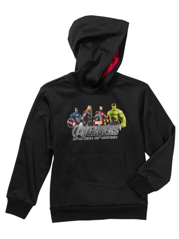 Marvel Boys Black Avengers Age Of Ultron Pullover Hoodie Sweatshirt