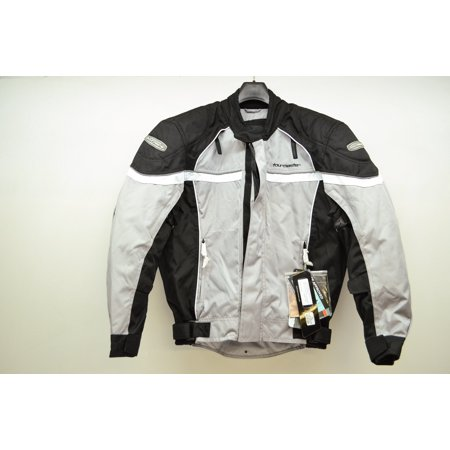 Tour Master 8775020704 Silver & Black Jett 2 Motorcycle Jacket Small 40 QTY 1