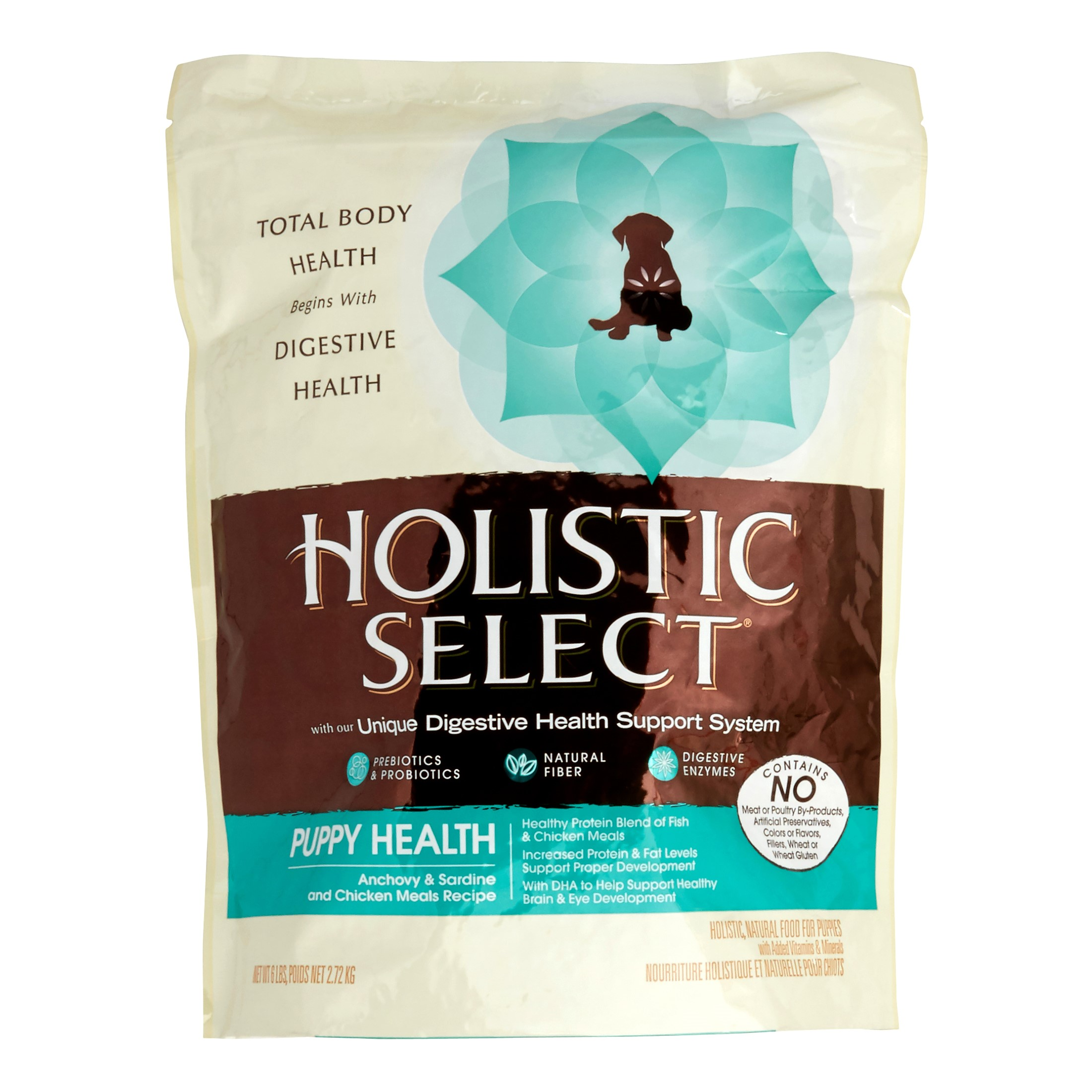 Holistic Select Puppy Health Anchovy, Sardine & Chicken Meal Dry Dog Food, 6 Lb