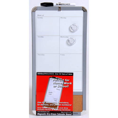 Dooley Boards Inc Dry Erase Calendar Magnetic Bulletin