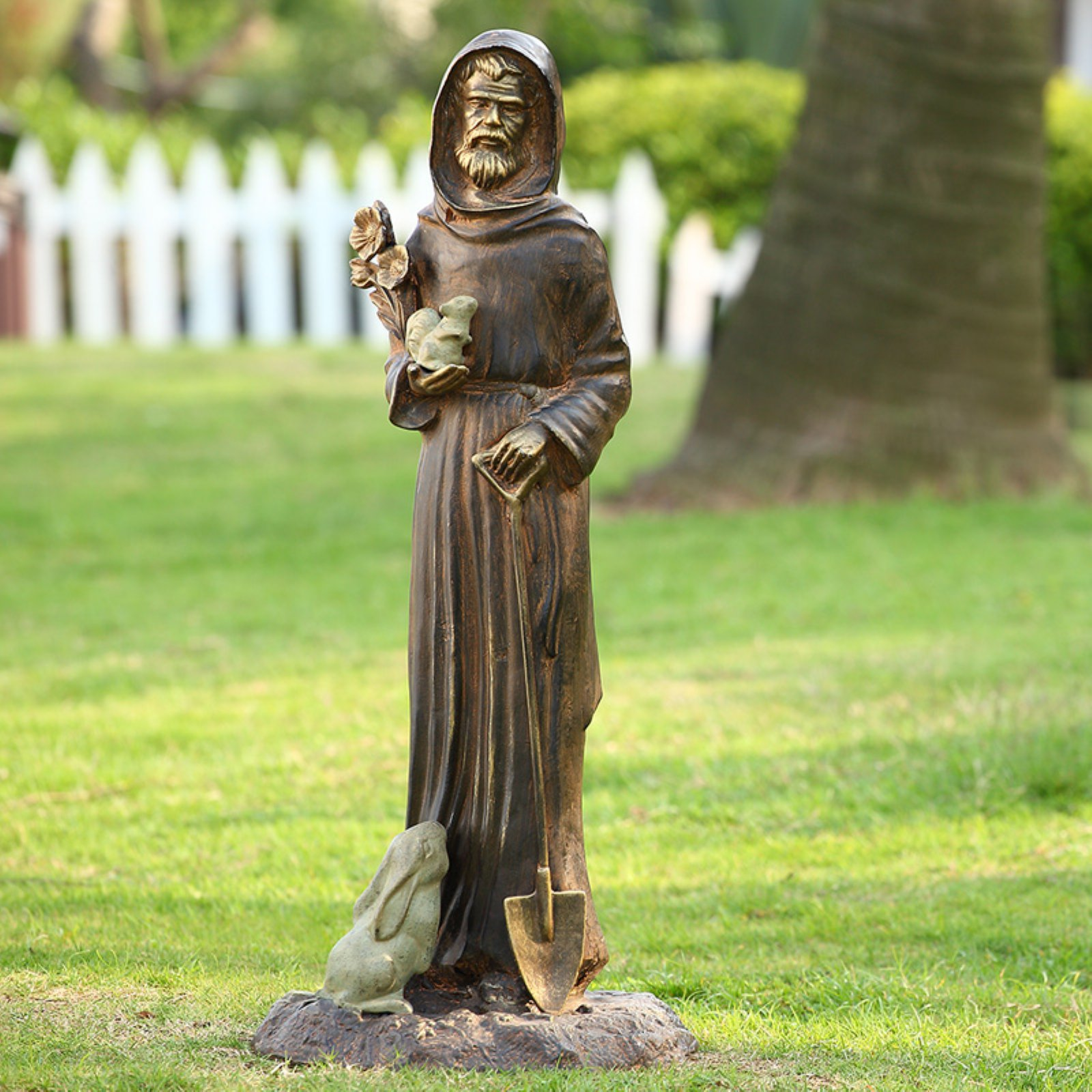 San Pacific International St Francis and Friends Garden Statue