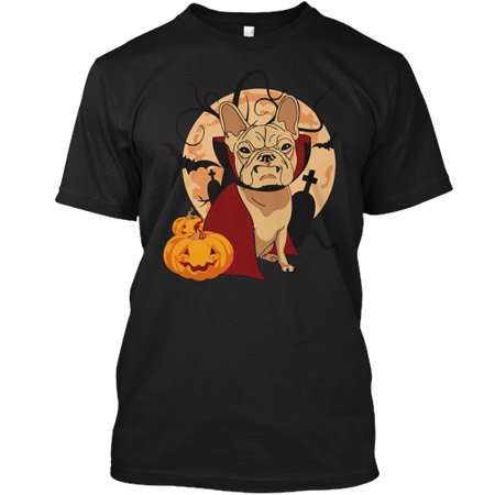 Halloween In French Worksheets (French Bulldog Halloween  Hanes Tagless Tee)