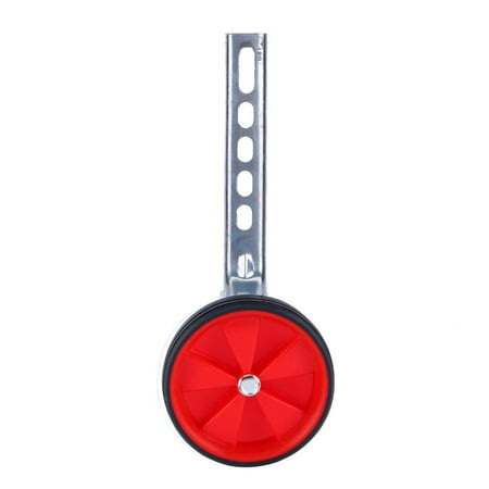2Pcs 12 to 20 Inch Stable Jockey Wheel, Adjustable Children's Bicycle Training Wheels, Universal Kids Bike Stabiliser Suitable for Bikes Wheel (Red) ()