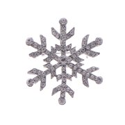 Women's Rhinestone Crystal Studded SnowflakeCasual Novelty Holiday Pin Brooch