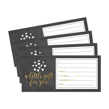 25 4x9 Cute Rustic Blank Gift Certificate Cards For Business, Modern Restaurant, Spa, Beauty Makeup Hair Salon, Wedding, Bridal, Baby Shower Print Custom Personalized Bulk Template Kit Forms Printable for $<!---->