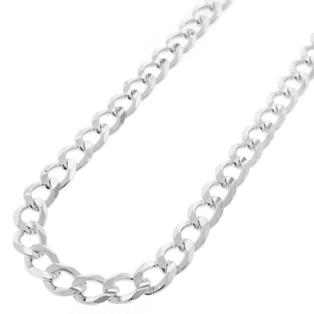 Sterling Silver Italian 8mm Cuban Curb Link ITProlux Solid 925 Necklace Chain 20