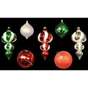 Christmas at Winterland WL-ORN-7PK-RGWS Red, Green and White Ornament Kit Indoor
