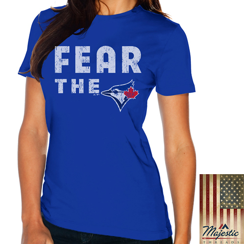 Toronto Blue Jays Majestic Threads Women's Fear The Team T-Shirt - Royal