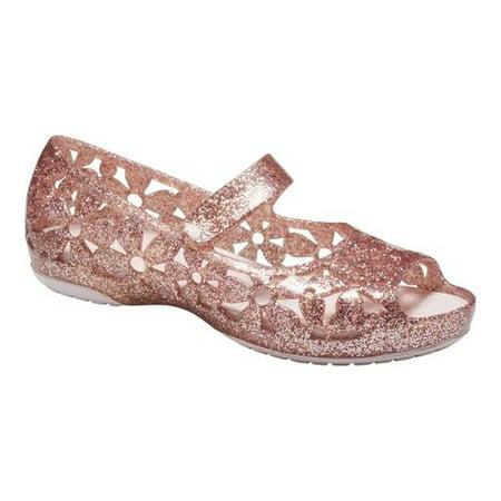 fdefc8f3db485 Infant Girls' Crocs Isabella Flower Flat Mary Jane Kids
