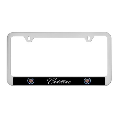 Cadillac  2000   2013  Logo Abs Plastic Satin Finish License Plate Frame