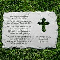 Personalized Cross Memorial Stone