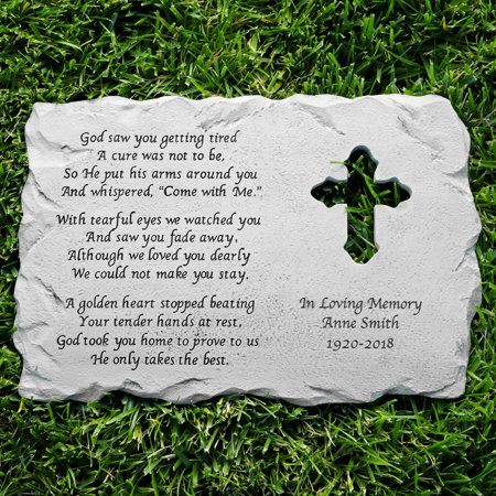 Personalized Cross Memorial Stone (Personalized Crosses)