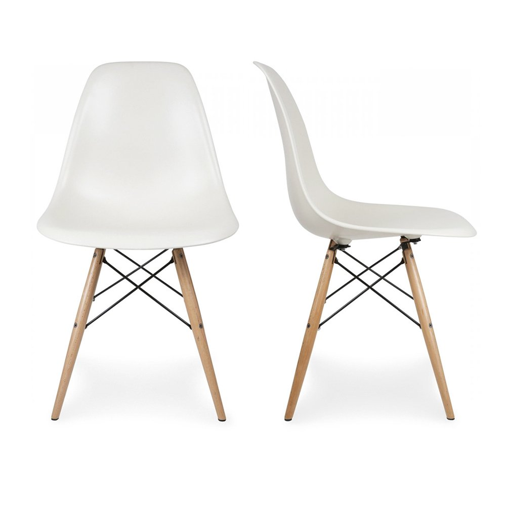 Astonishing Belleze Set Of 2 Classic Dsw Molded Plastic Side Chair Pdpeps Interior Chair Design Pdpepsorg