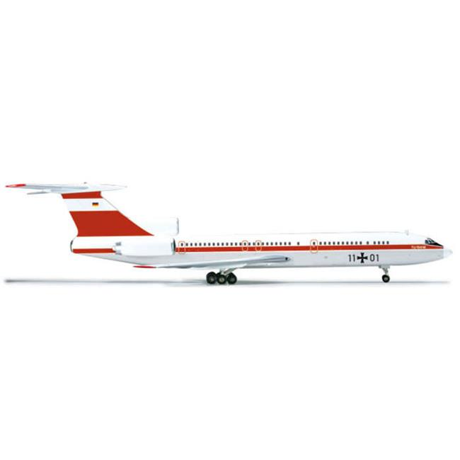 Herpa 1-200 Scale Military HE556460 Herpa Luftwaffe TU154M 1-200 Flubereitsc by Herpa