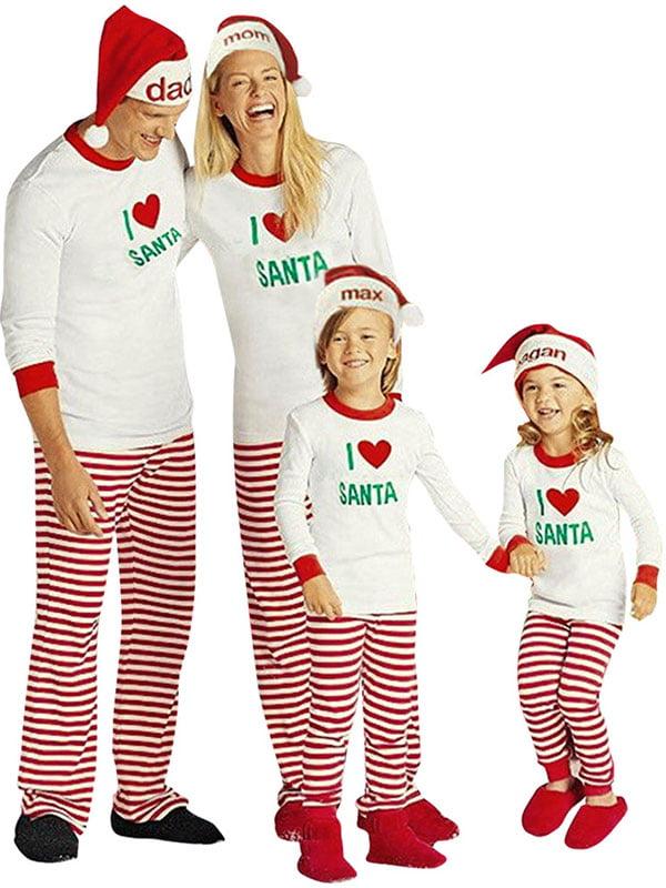ZXZY Children Adult Matching Family Pajamas Sets Christmas Pajamas ...