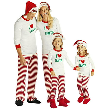zxzy children adult matching family pajamas sets christmas pajamas sleepwear outfit - Walmart Christmas Pajamas