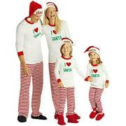 zxzy children adult matching family pajamas sets christmas pajamas sleepwear outfit