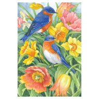 Toland Home Garden Eastern Bluebirds Flag
