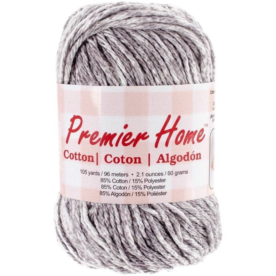 Home Cotton Yarn, Multicolored, Grey Splash