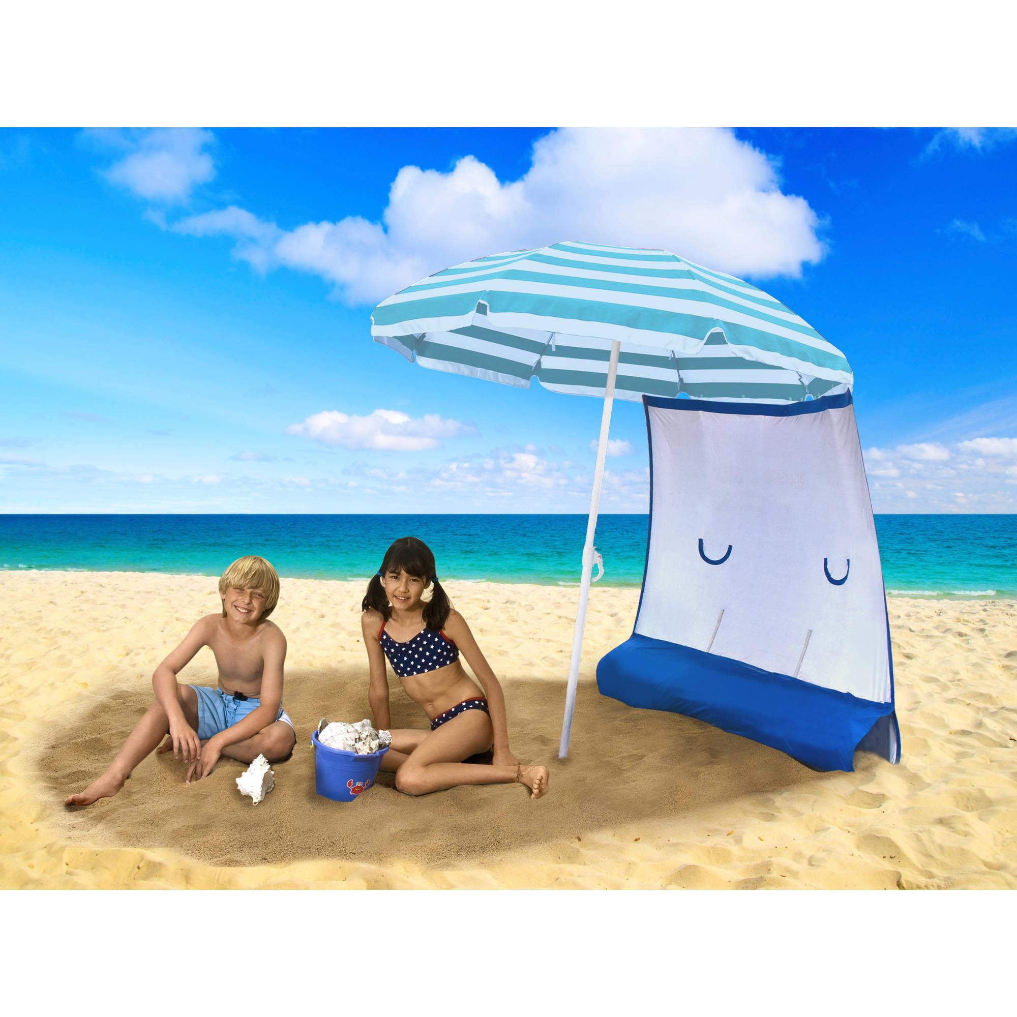 ezShade Sunshield Curtain for Nylon/Poly Beach Umbrellas