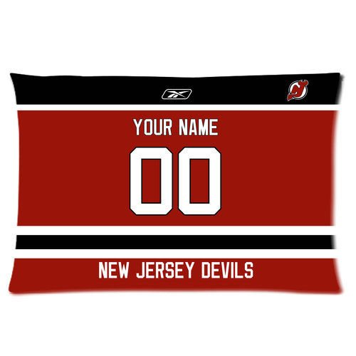 DEYOU Jersey Devils Hockey Pillowcase Pillow Case Cover Two Sides Printing Size 20x30 inch