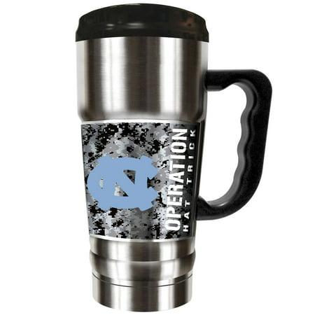 North Carolina Tar Heels Operation Hat Trick 20oz. Vacuum-Insulated Travel Mug - Silver - No