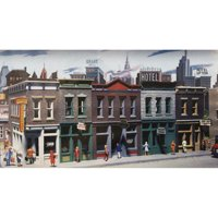 Walthers Cornerstone HO Scale Building/Structure Kit Merchants Row I Downtown