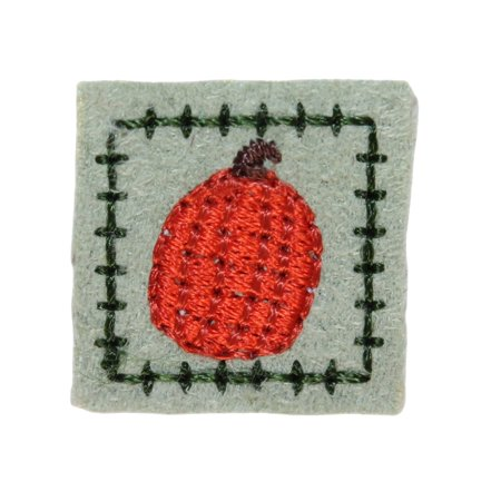 ID 1434 Lot of 3 Pumpkin Badge Patch Halloween Tag Embroidered Iron On - Halloween Pumpkin Patch