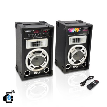 - Pyle Pro PSUFM837BT 800-Watt Disco Jam Powered Active/Passive PA Bluetooh Dual Speaker System