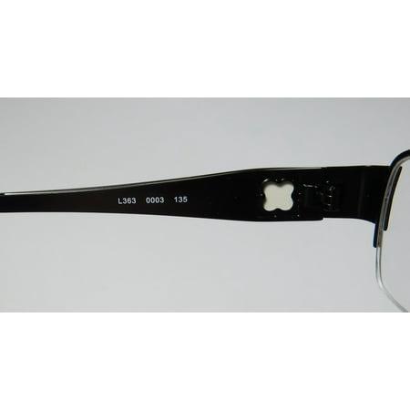 e3ca3f75734 New Liz Claiborne 363 Womens Ladies Designer Half-Rim Black   White  Stainless Steel